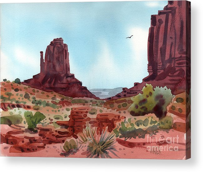Right Mitten Acrylic Print featuring the painting Right Mitten by Donald Maier
