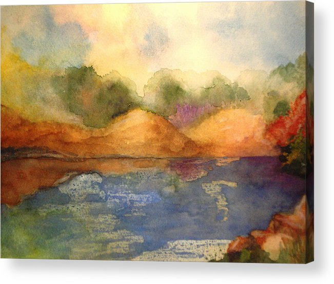 Landscape Acrylic Print featuring the painting Whimsy by Vi Mosley