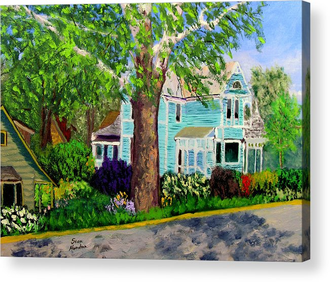Plein Air Acrylic Print featuring the painting Nashville House by Stan Hamilton