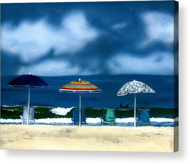 Newport Beach Acrylic Print featuring the painting 32nd Street by Charles Parks