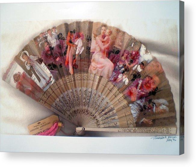 Fan Acrylic Print featuring the digital art A Womans World by Tammera Malicki-Wong