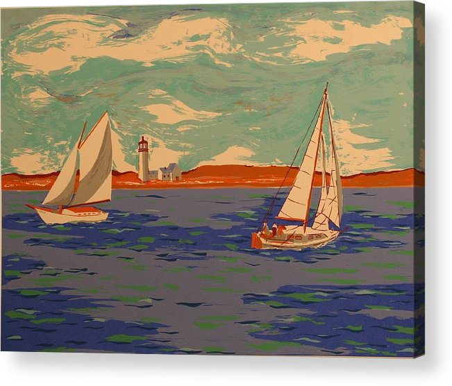Acrylic Print featuring the print Along the coast by Biagio Civale