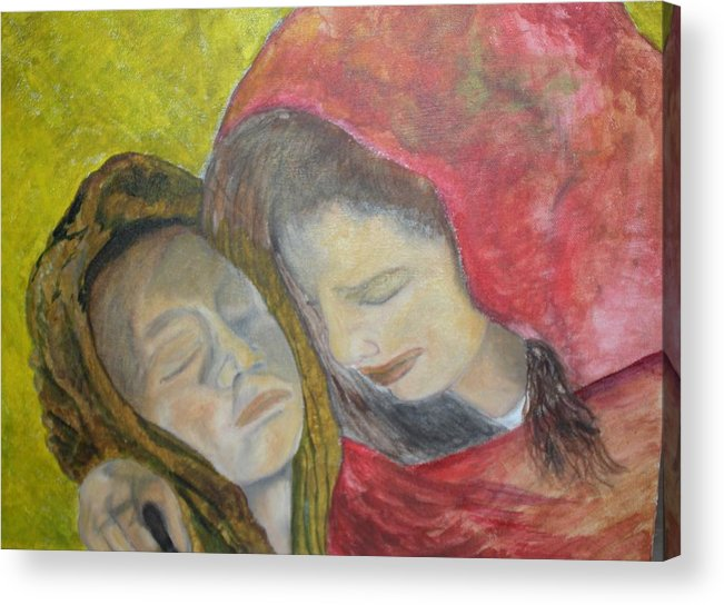 New Artist Acrylic Print featuring the painting At Last They Sleep by J Bauer