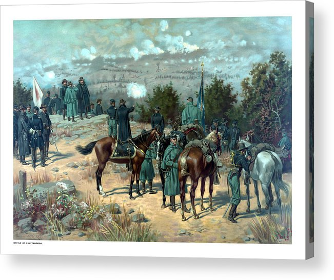 Missionary Ridge Acrylic Print featuring the painting Battle Of Chattanooga by War Is Hell Store