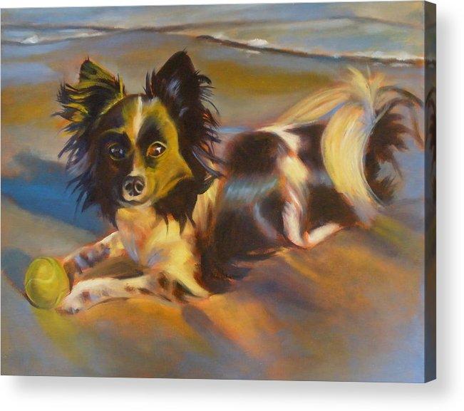 Animal Acrylic Print featuring the painting Beach ball by Kaytee Esser