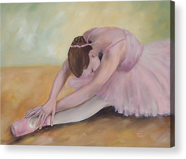 Dancer Acrylic Print featuring the painting Before The Ballet by Torrie Smiley