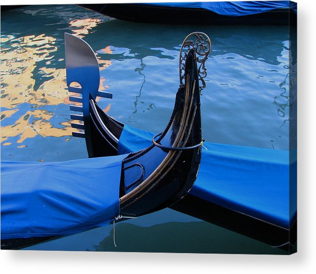 Gondola Acrylic Print featuring the photograph Blue by Robert Bissett