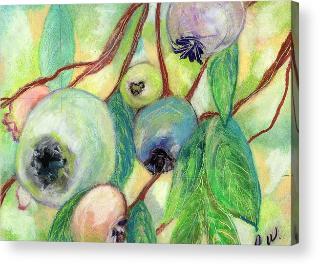 Blueberries Acrylic Print featuring the painting Blueberries by Pamela Wilson