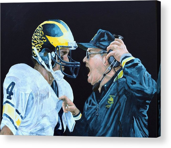 Michigan Acrylic Print featuring the painting BO Knows by Travis Day