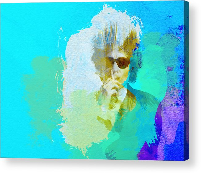 Bob Dylan Acrylic Print featuring the painting Bob Dylan by Naxart Studio