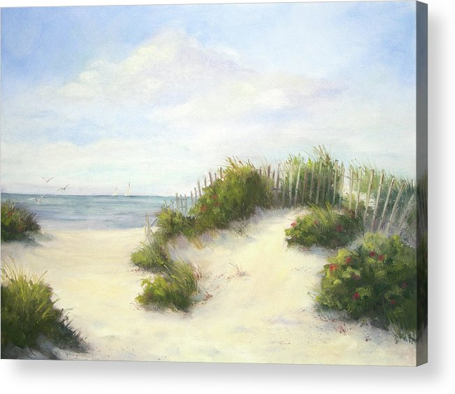 Beach Acrylic Print featuring the painting Cape Afternoon by Vikki Bouffard