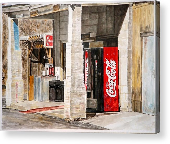 Rural Scene Acrylic Print featuring the painting Checking Station by Thomas Akers