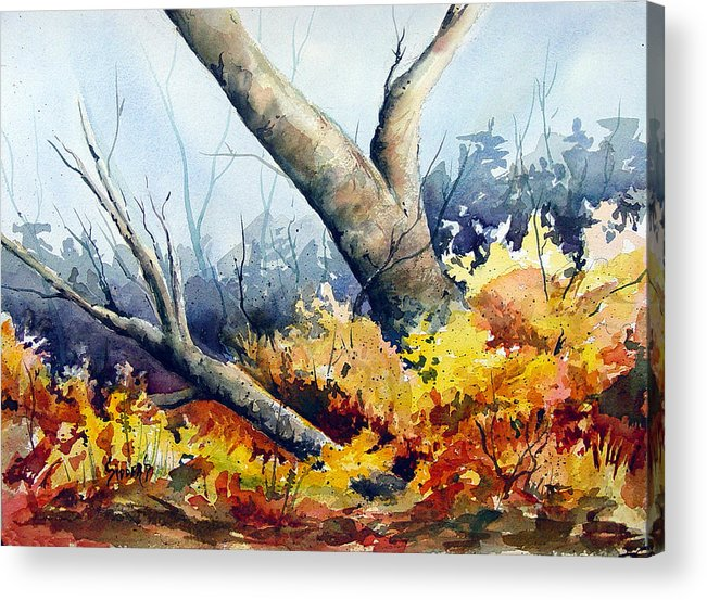 Tree Acrylic Print featuring the painting Cletus' Tree by Sam Sidders