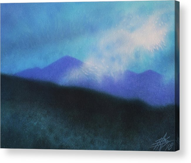 Landscape Acrylic Print featuring the painting Cloudline III by Robin Street-Morris