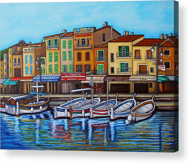 Cassis Acrylic Print featuring the painting Colours of Cassis by Lisa Lorenz