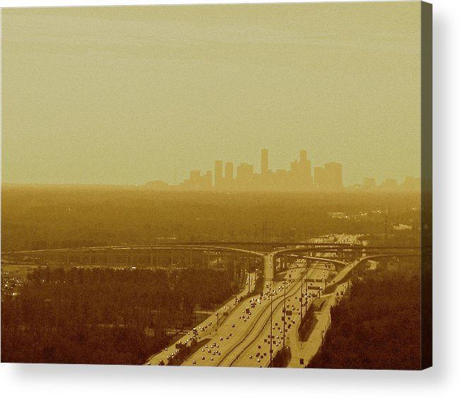 Texas Acrylic Print featuring the photograph Dallas Sky by Katie Ransbottom