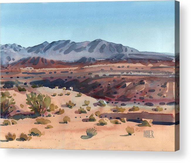 Desert Acrylic Print featuring the painting Desert in New Mexico by Donald Maier