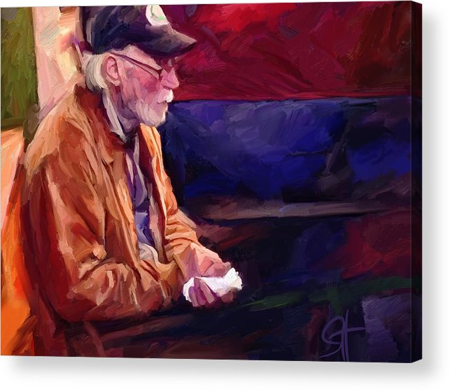 Portrait Acrylic Print featuring the digital art Don by Scott Waters