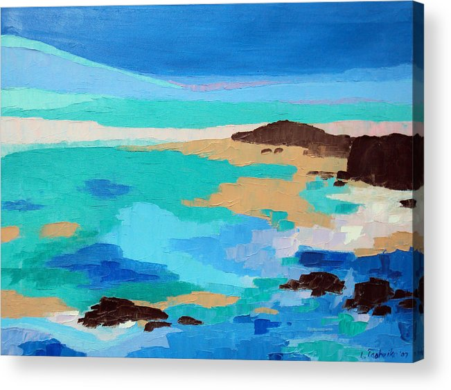 Maine Acrylic Print featuring the painting Dream Scape 14 by Laura Tasheiko