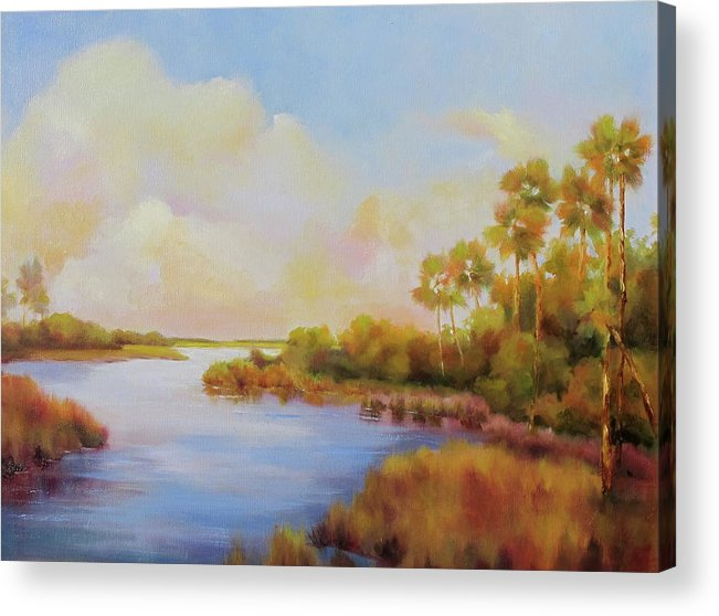 Everglades Acrylic Print featuring the painting Everglades by Barrett Edwards