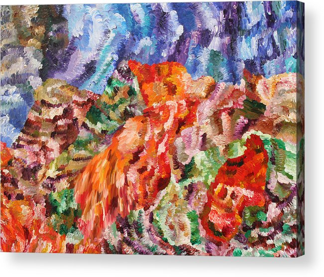 Fusionart Acrylic Print featuring the painting Flock by Ralph White