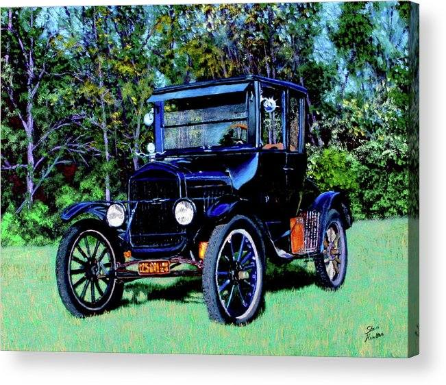 Ford Acrylic Print featuring the painting Ford Model T by Stan Hamilton