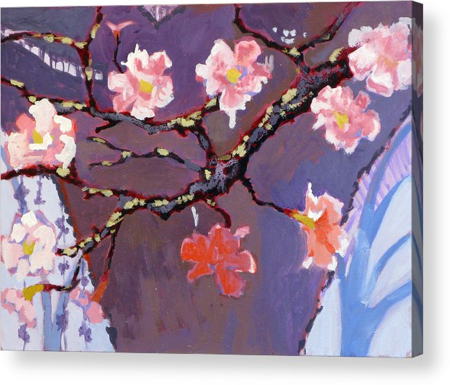 Blossom Acrylic Print featuring the painting Forest in Bloom by Robert Bissett