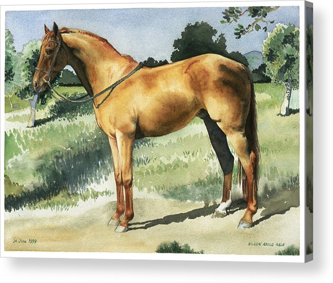 Portrait Acrylic Print featuring the painting George by Eileen Hale