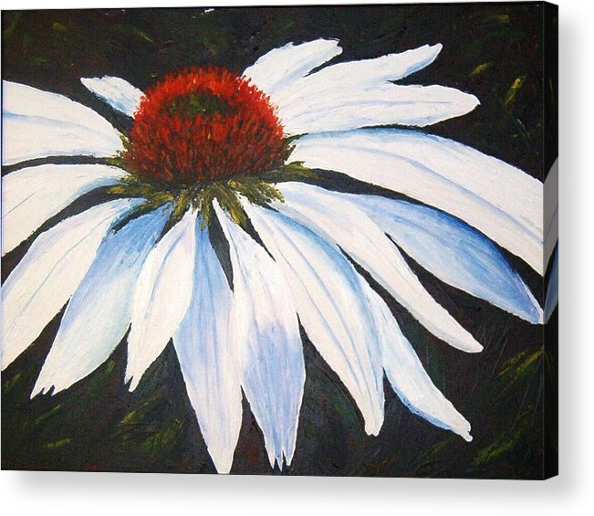 Cone Flowers Acrylic Print featuring the painting Ghost Cone by Tami Booher
