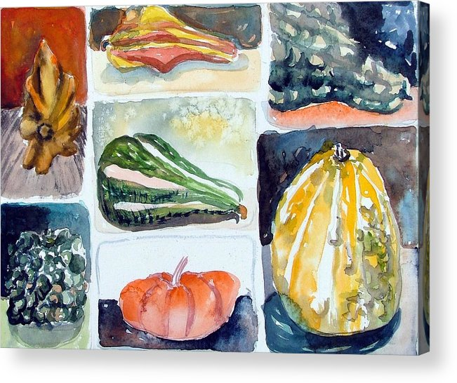 Gourd Acrylic Print featuring the painting Gourd Collection by Mindy Newman