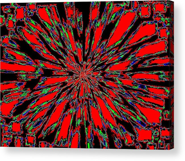 Abstract Acrylic Print featuring the digital art Harmony 37 by Will Borden