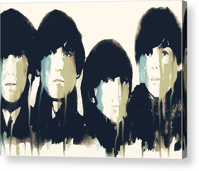 The Beatles Acrylic Print featuring the painting Hello Goodbye by Paul Lovering
