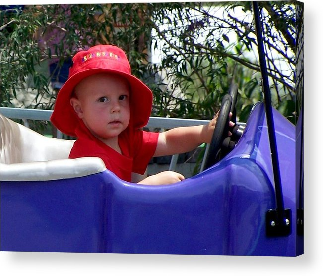 Nature Acrylic Print featuring the photograph In The Driver's Seat by Cumberland Studios
