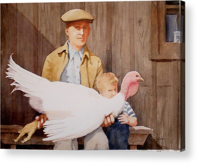 Farmer Acrylic Print featuring the painting Ivan and Two Toms by Faye Ziegler