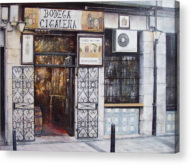 Bodega Acrylic Print featuring the painting La Cigalena Old Restaurant by Tomas Castano