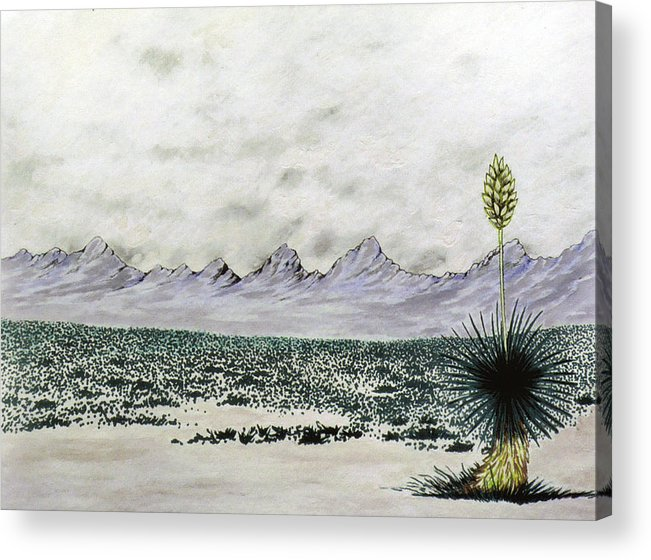 Desertscape Acrylic Print featuring the painting Land of Enchantment by Marco Morales
