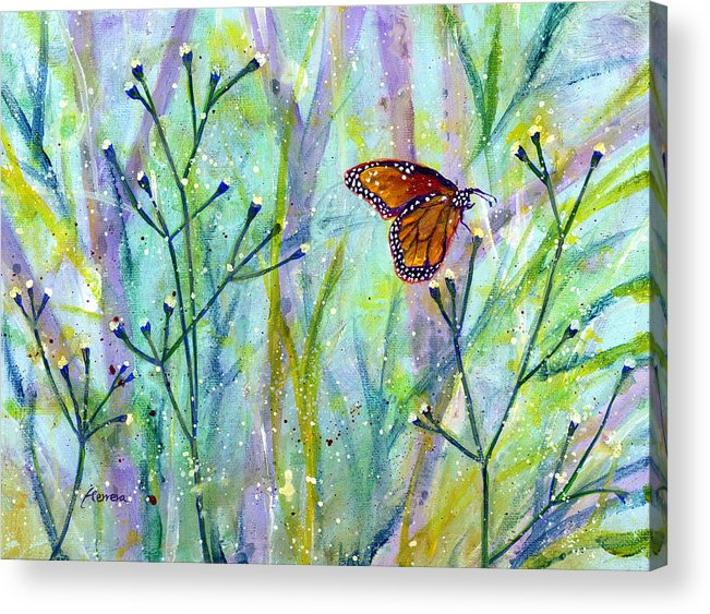 Butterfly Acrylic Print featuring the painting Lingering Memory 1 by Hailey E Herrera