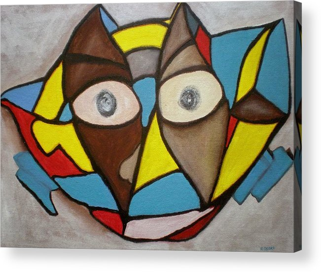 Masks Acrylic Print featuring the painting Mask by Philip Okoro