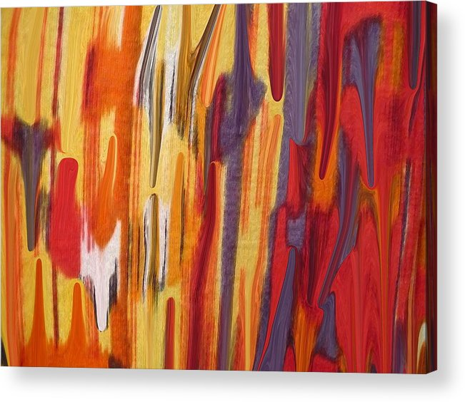 Abstract Acrylic Print featuring the painting Melting Pot by Florene Welebny