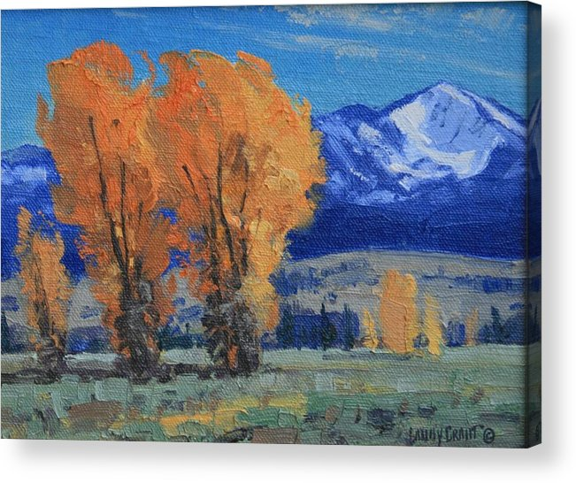 Landscape Acrylic Print featuring the painting Near Kelly by Lanny Grant