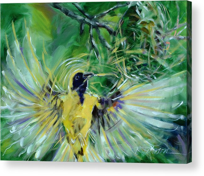 Nature Acrylic Print featuring the painting Nest 2 by Ron Patterson