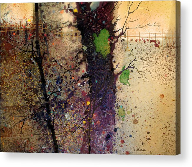 Abstract Acrylic Print featuring the digital art Nisqually 8 a.m. by Dale Witherow