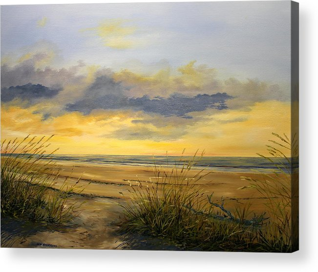 Florida Acrylic Print featuring the painting North Captiva Sunset by Ken Ahlering