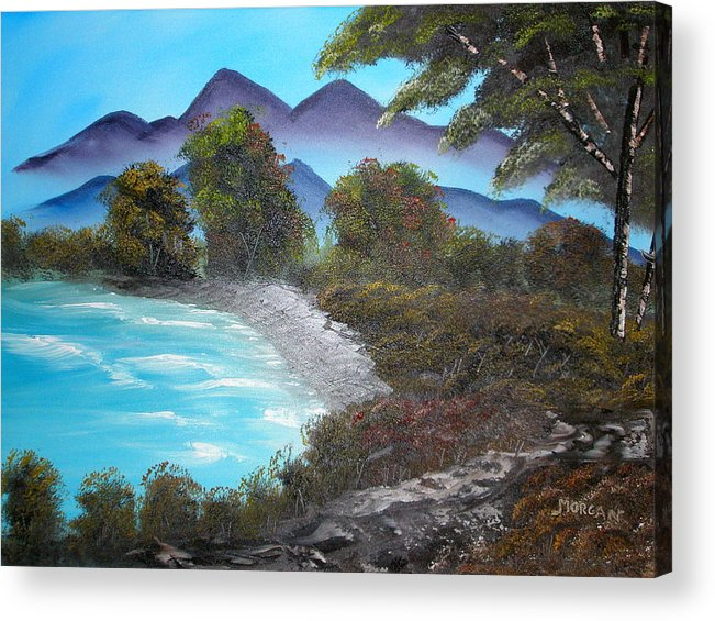 Seascape Acrylic Print featuring the painting Ocean Breezes by Sheldon Morgan