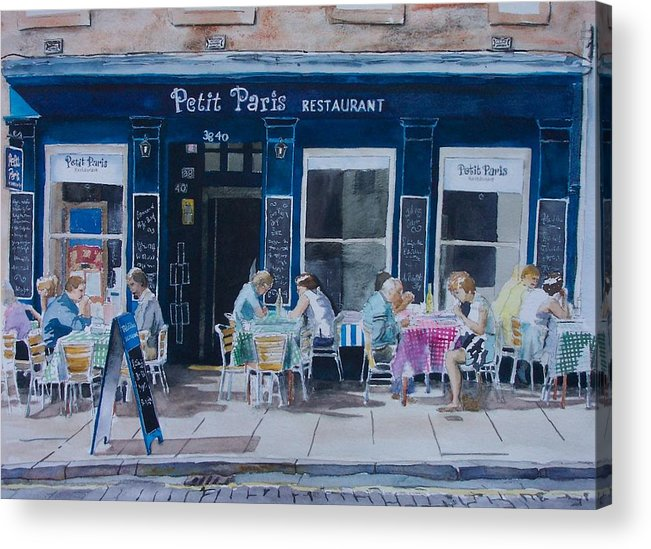 France Acrylic Print featuring the painting Petit Paris by Victoria Heryet