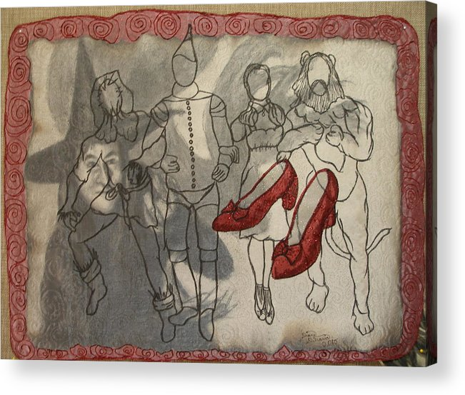 Mixed-media Acrylic Print featuring the mixed media Red Shoes by Diane DiMaria