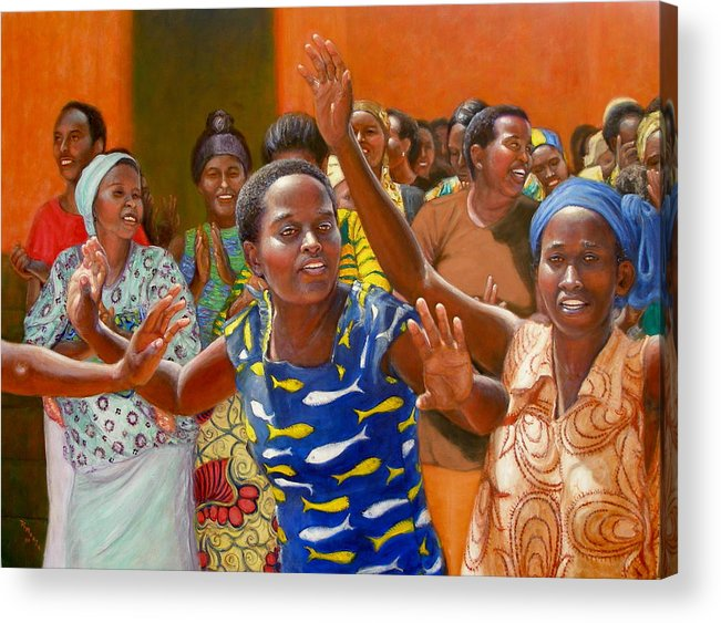 Realism Acrylic Print featuring the painting Rejoice by Donelli DiMaria