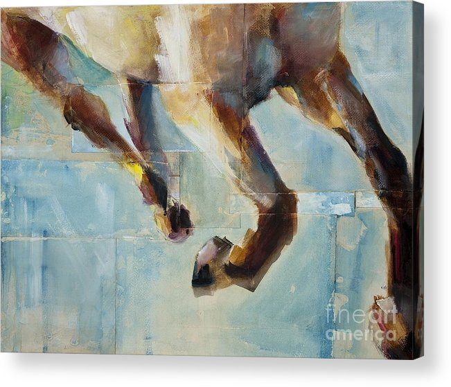Horses Acrylic Print featuring the painting Ride Like You Stole It by Frances Marino