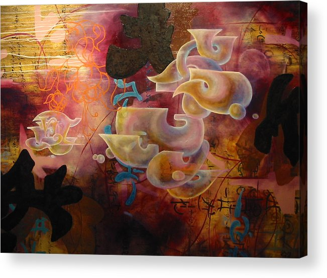 Abstraction Acrylic Print featuring the painting Roller Coaster Love by Monica James