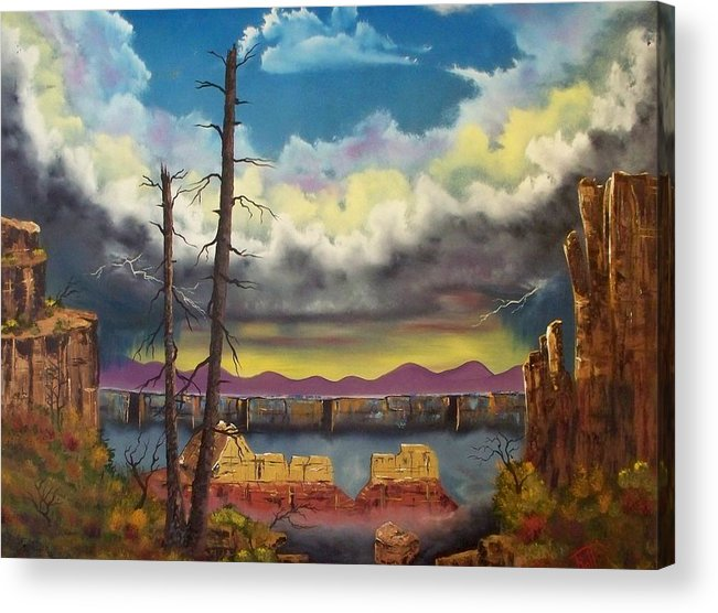 Painting Acrylic Print featuring the painting Sacred View by Patrick Trotter